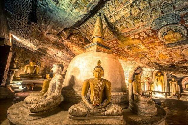 Cave Temple in Dambulla - sri lanka adventure tour