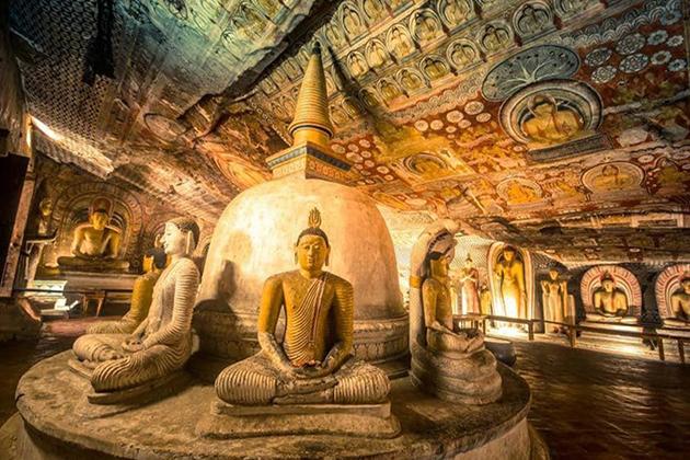 Golden Temple of Dambulla - Sri Lanka Cultural World Heritage
