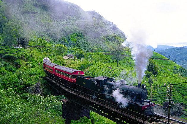 Ride the train to Mount Lavinia