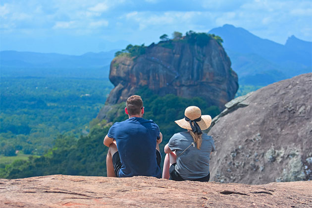 Sri Lanka Honeymoon Tour at Lion Rock