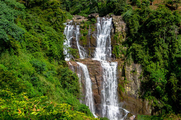 Waterfall in Nuwara Eliya Sri Lanka Honeymoon Tour