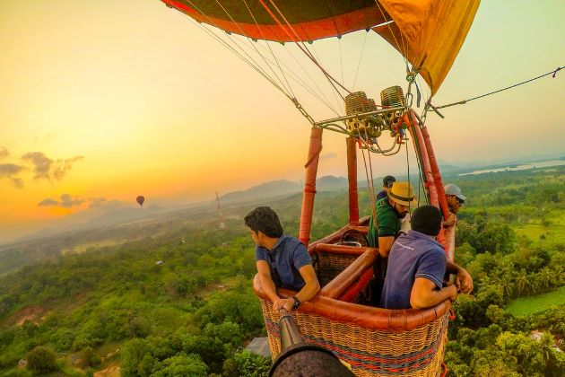 hot air ballon in sri lanka vacation packages