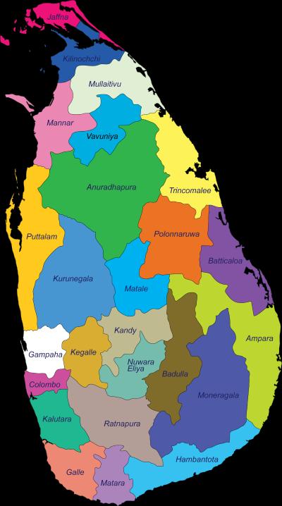 map of sri lanka holiday tours